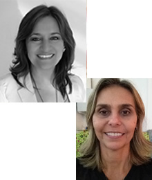 Gissela Echeverría e Lucia Vinagre