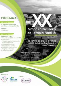 XX SIMPÓSIO BRASILEIRO DE TERAPIA FAMILIAR @ Cuiabá - MT